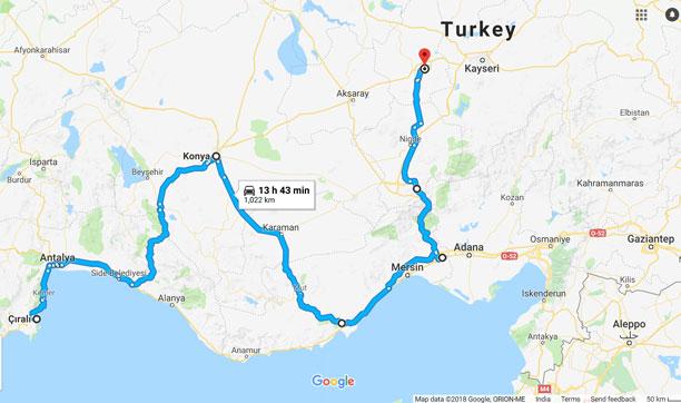 Motorbiking Cirali to Cappadocia